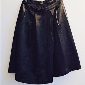 Selected Femme Satin A-Line Midi Skirt